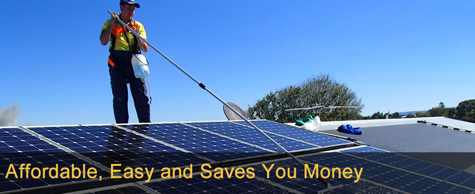 Affordable Solar panel cleaning