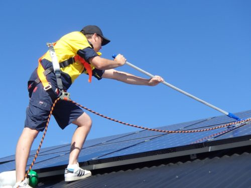 safe solar panel cleaning